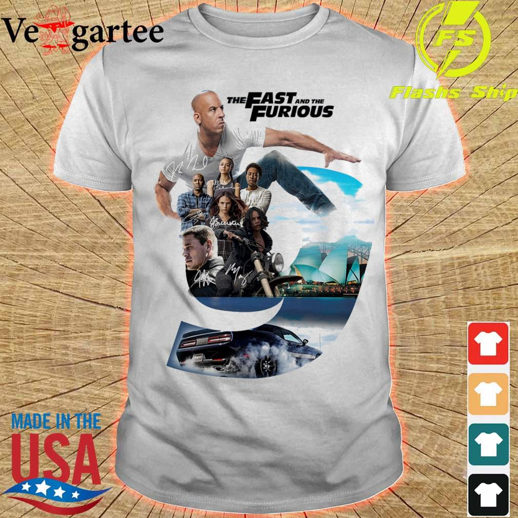The Fast and the furious 9 Character signatures shirt