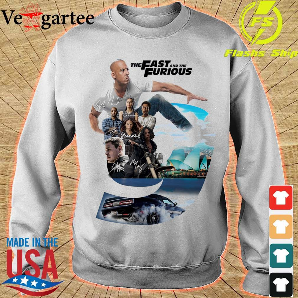 The Fast and the furious 9 Character signatures s sweater