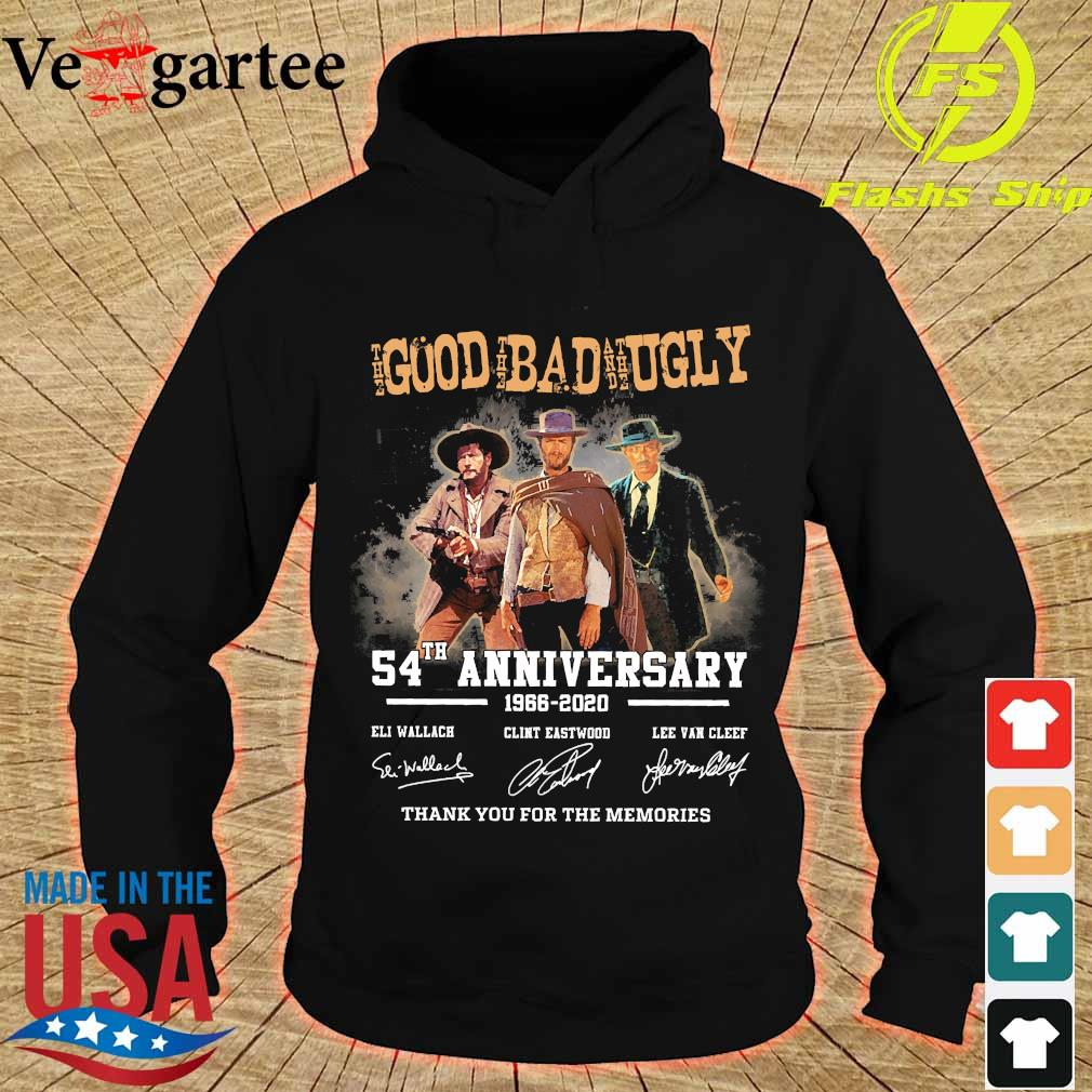 The Good the Bad and the Ugly 54th anniversary 1966 2020 thank You for the memories signatures s hoodie