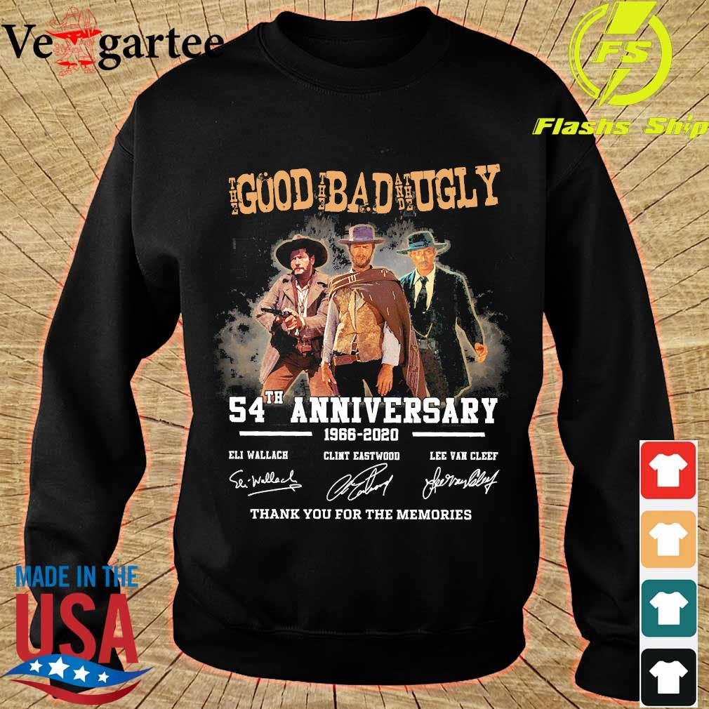 The Good the Bad and the Ugly 54th anniversary 1966 2020 thank You for the memories signatures s sweater