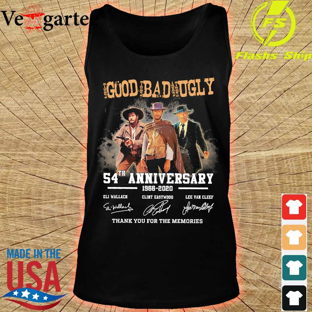 The Good the Bad and the Ugly 54th anniversary 1966 2020 thank You for the memories signatures s tank top