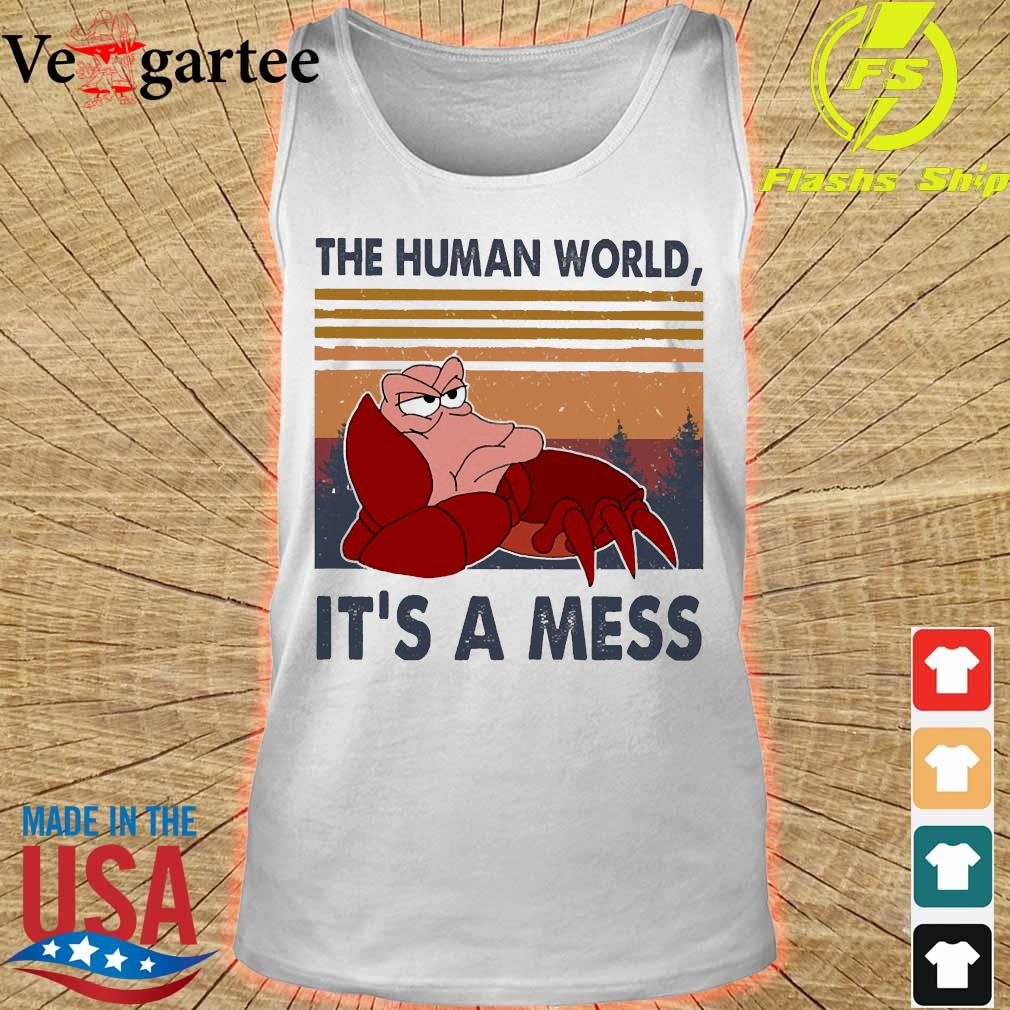 The human world It's a mess vintage s tank top