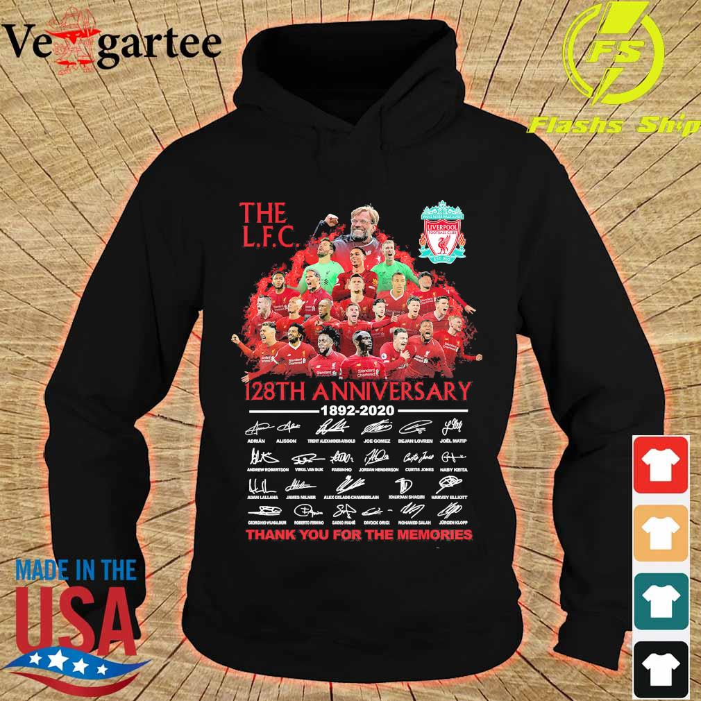 The L.F.C 128th anniversary 1892 2020 thank You for the memories signatures s hoodie