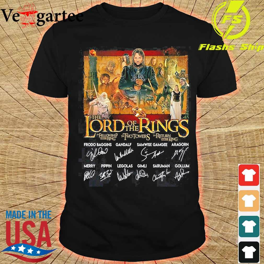 The lord of the rings signatures shirt