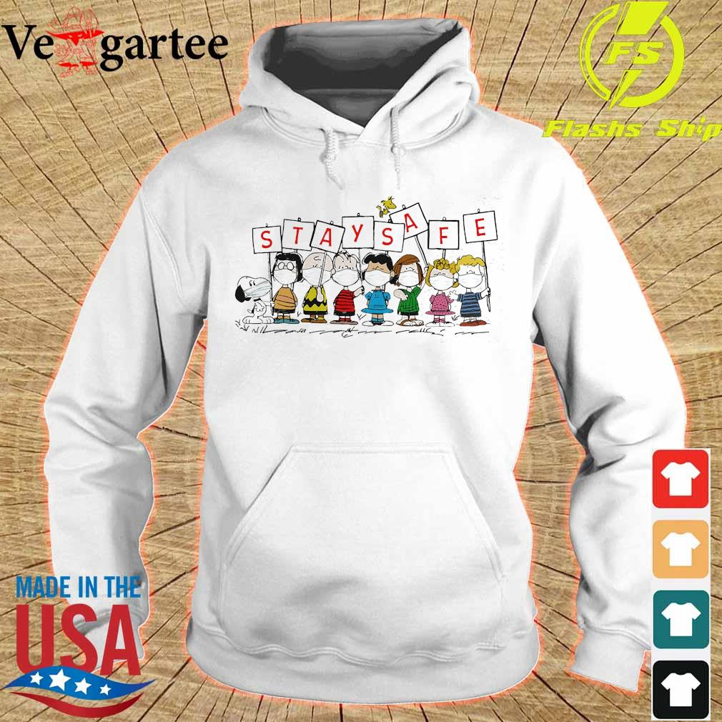 The Peanuts face mask stay safe s hoodie
