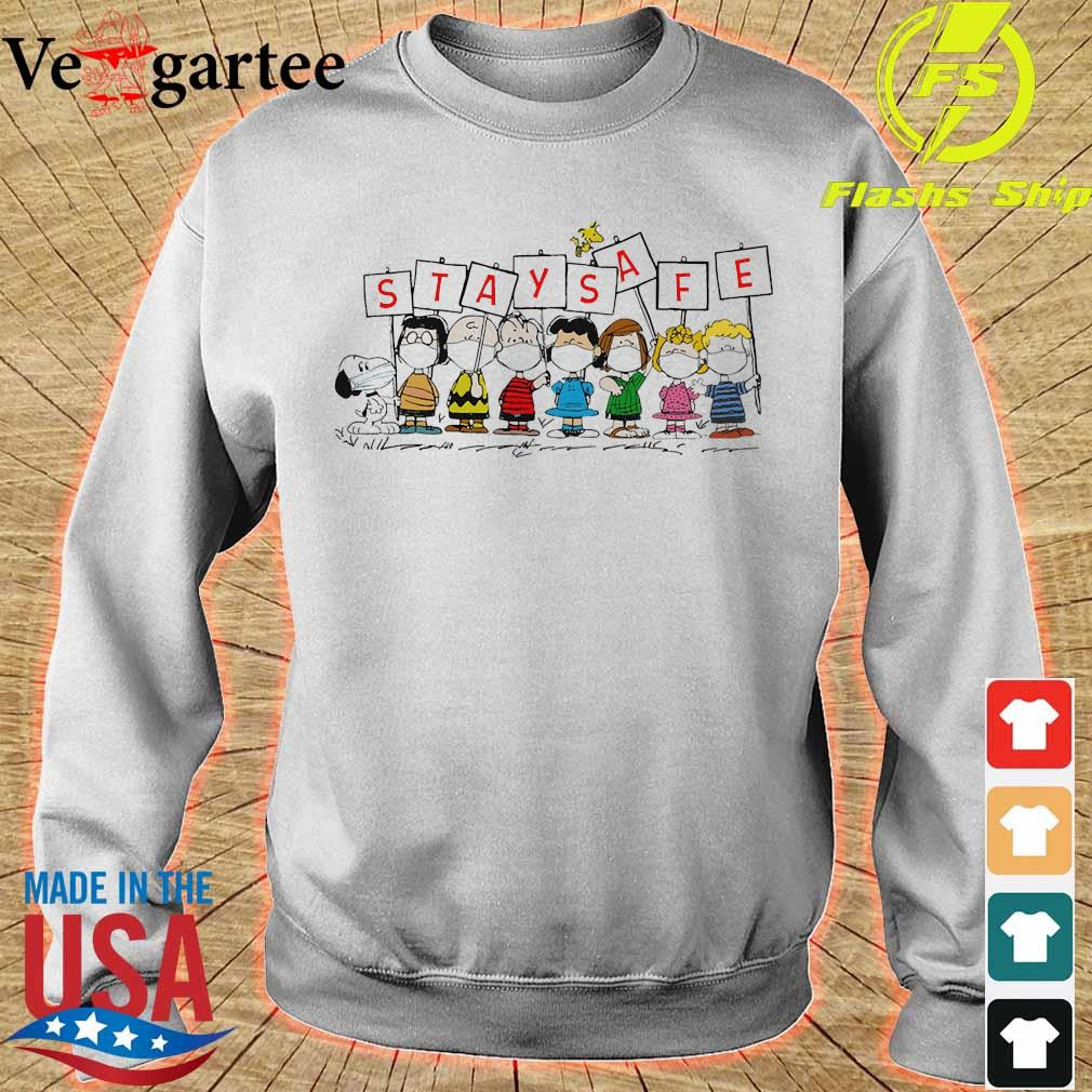 The Peanuts face mask stay safe s sweater