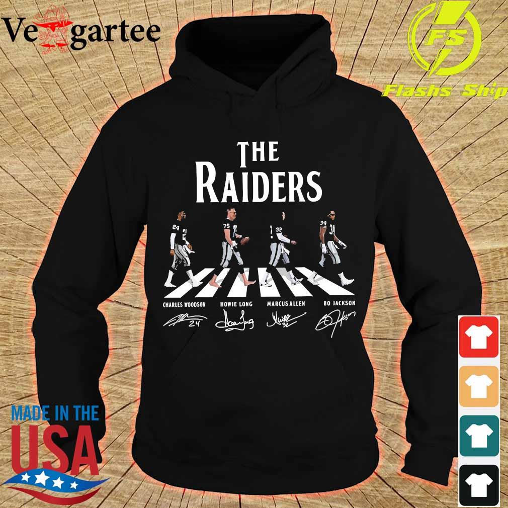 The Raiders abbey road signatures s hoodie