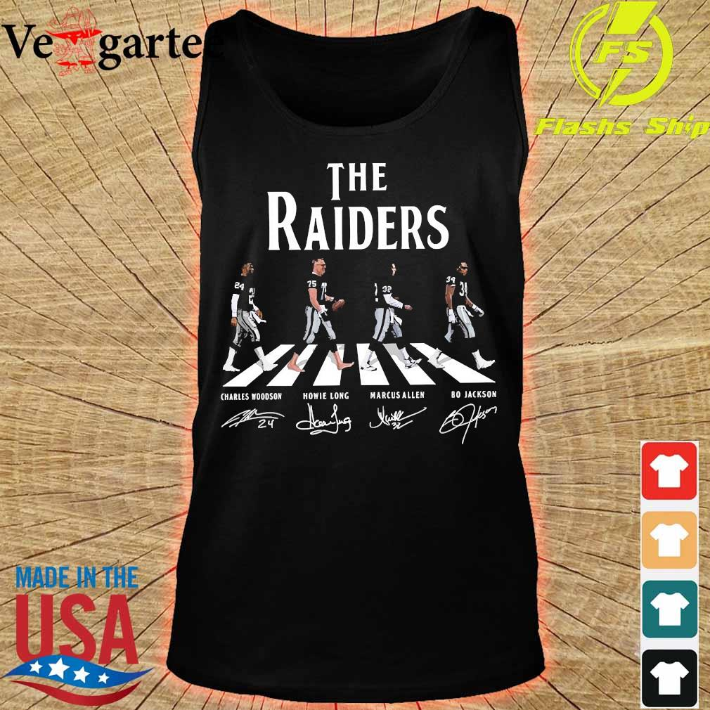 The Raiders abbey road signatures s tank top