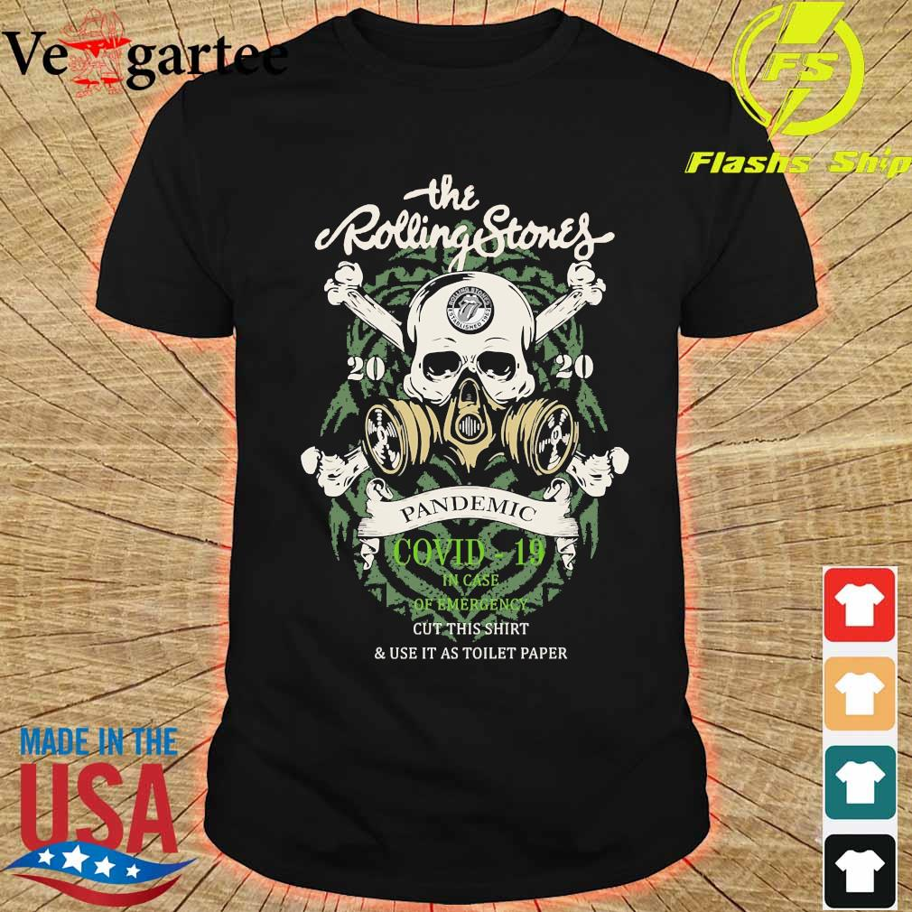 The Rolling Stones 2020 pandemic covid 19 in case of emergency shirt