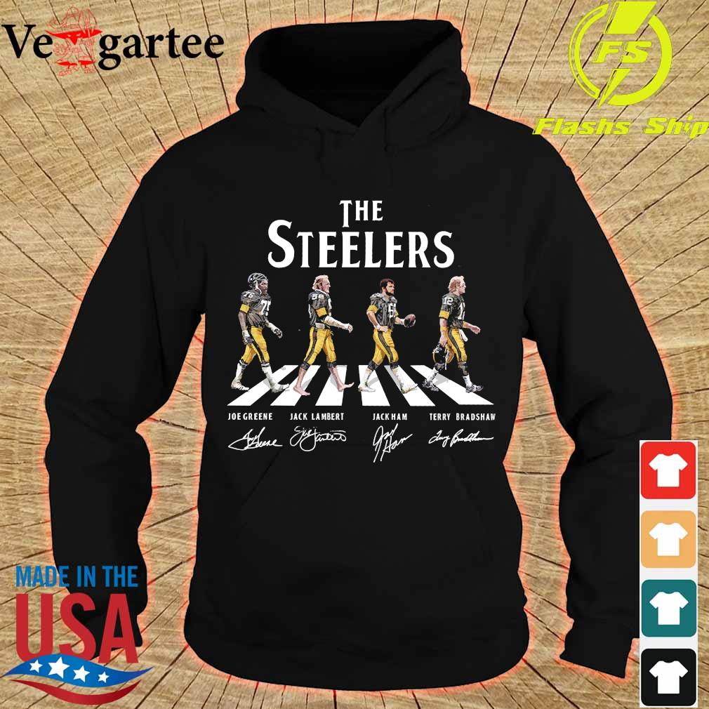 The Steelers walking abbey road signatures s hoodie