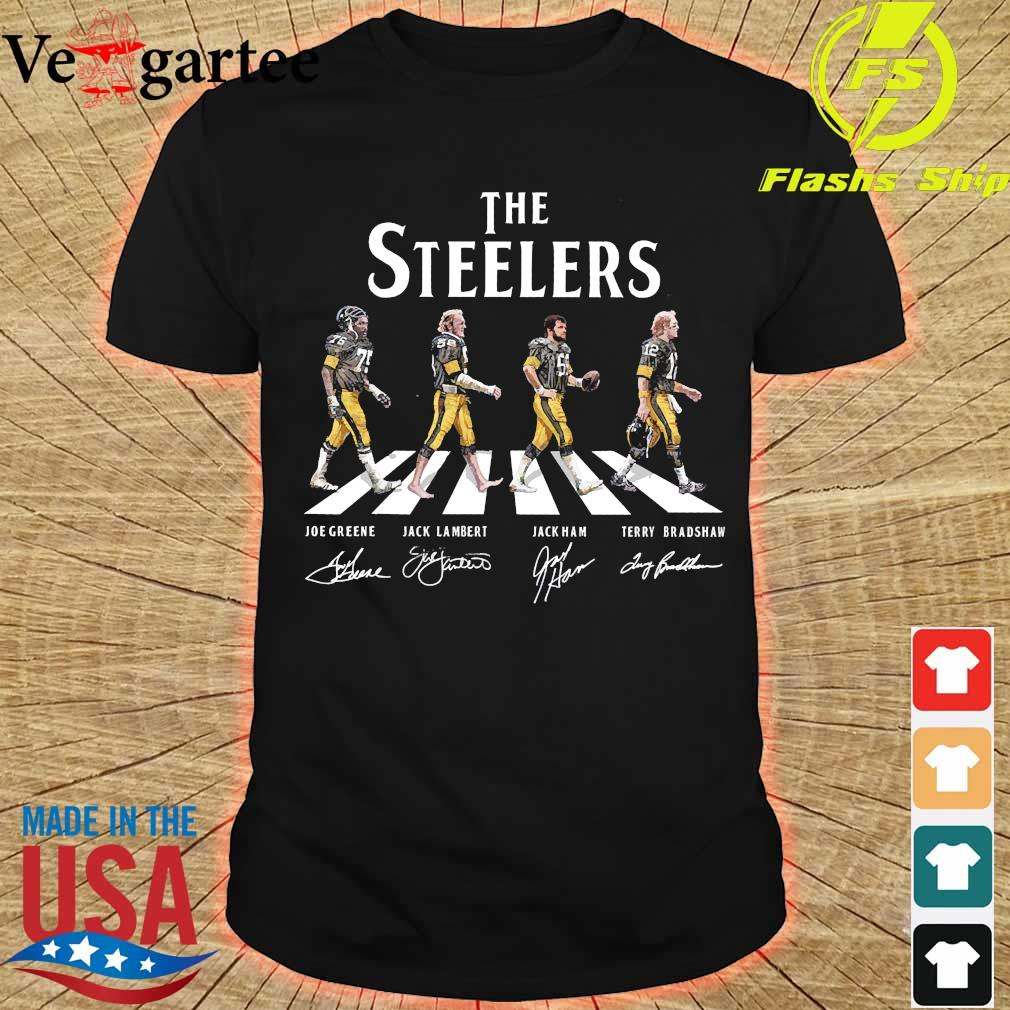 The Steelers walking abbey road signatures shirt