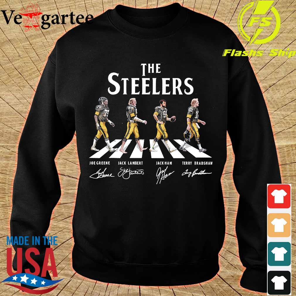 The Steelers walking abbey road signatures s sweater
