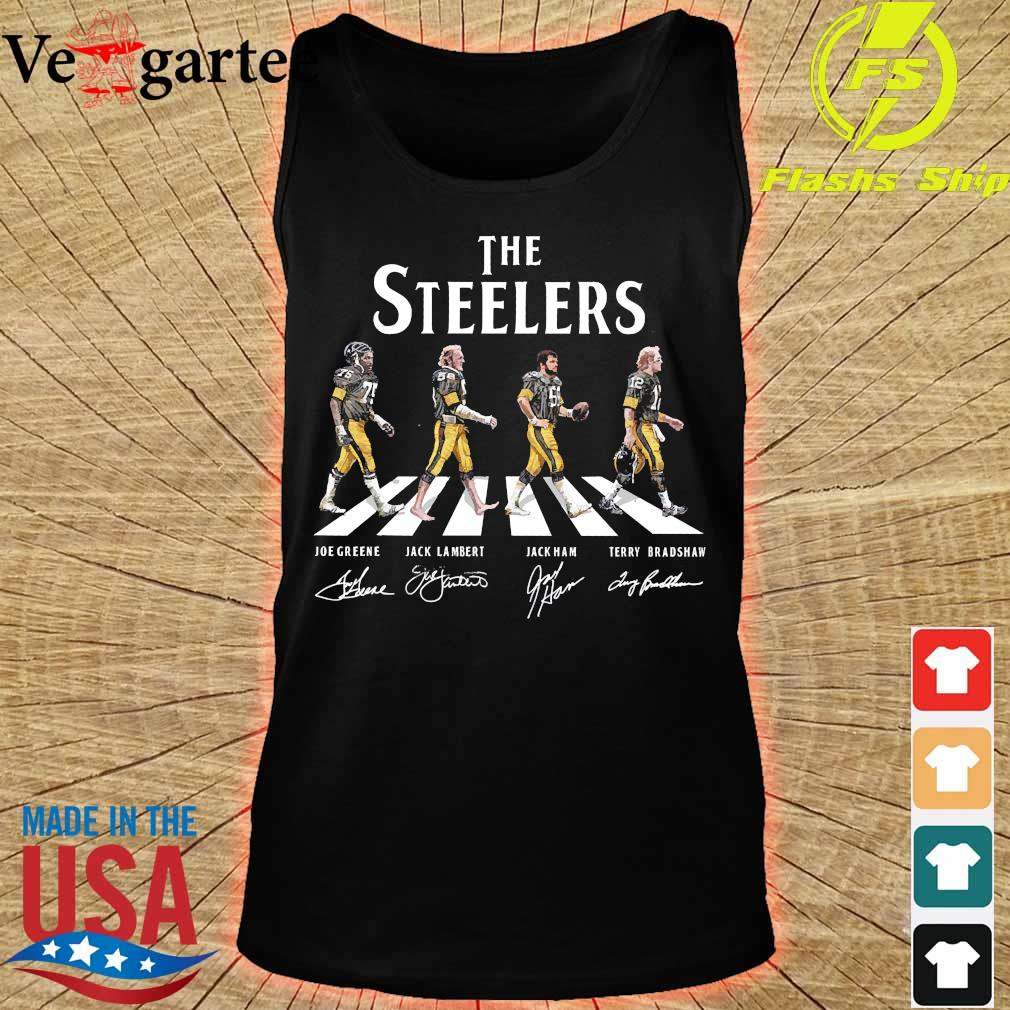 The Steelers walking abbey road signatures s tank top