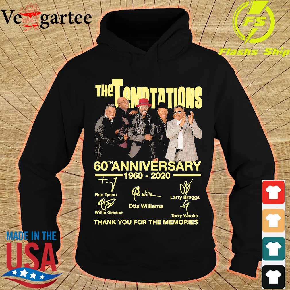 The Temptations 60th anniversary 1960 2020 thank You for the memories signatures s hoodie