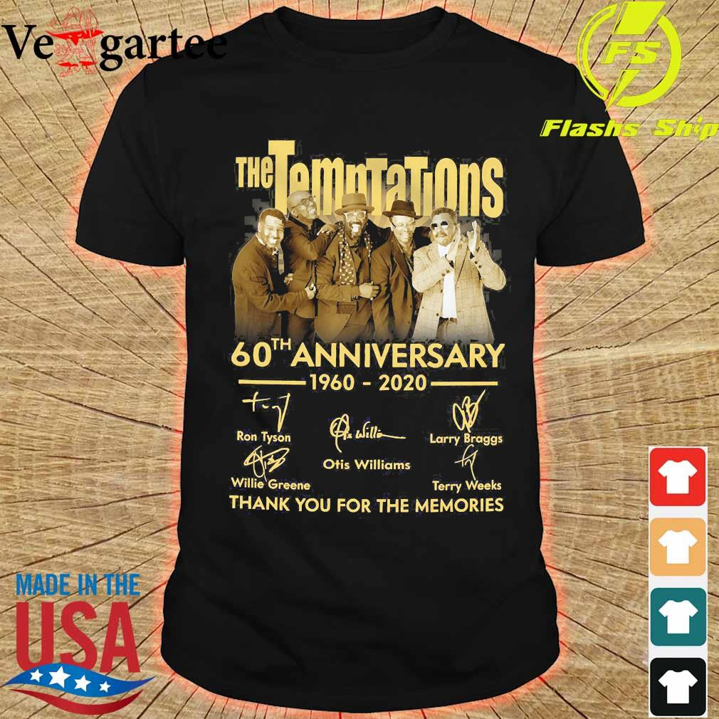 The Temptations 60th anniversary 1960 2020 thank You for the memories signatures shirt