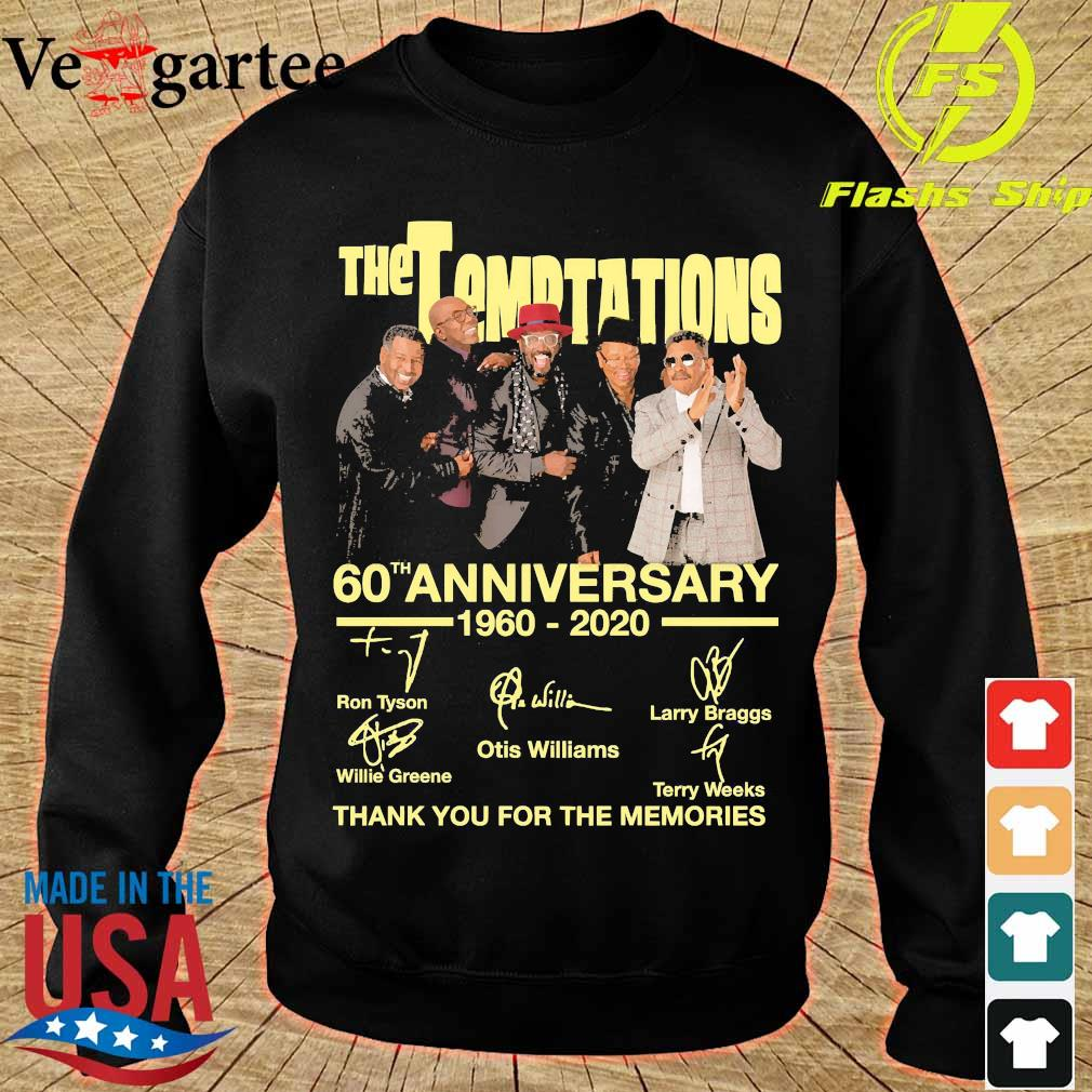 The Temptations 60th anniversary 1960 2020 thank You for the memories signatures s sweater