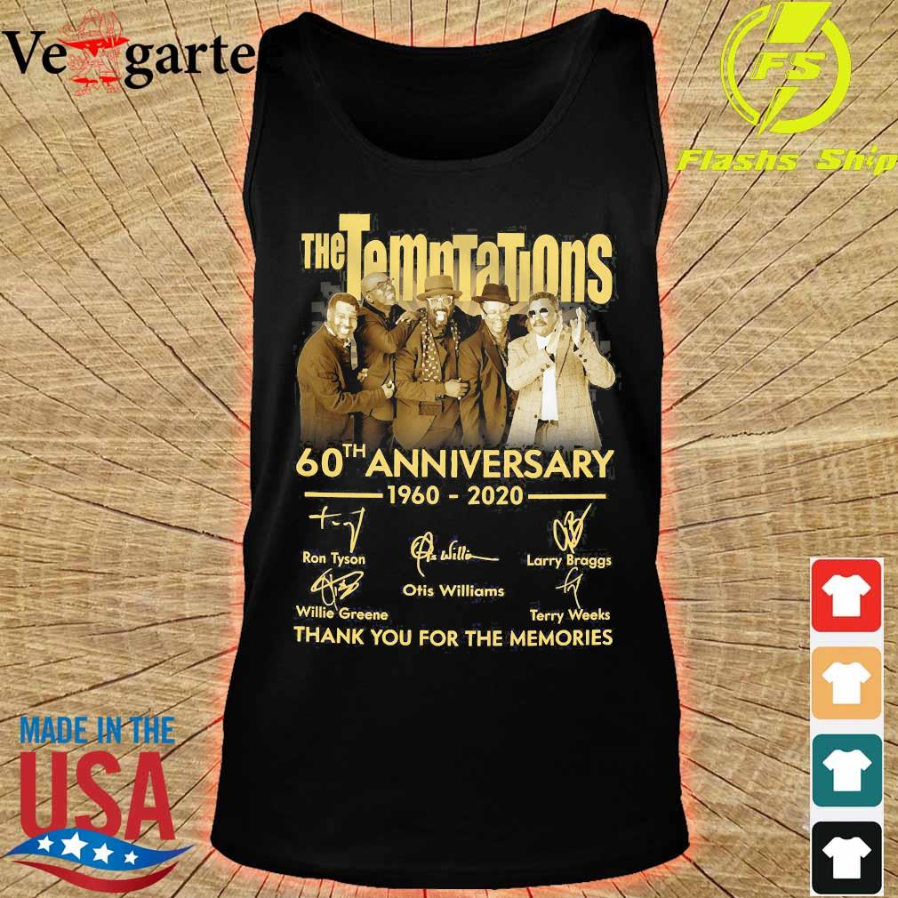 The Temptations 60th anniversary 1960 2020 thank You for the memories signatures s tank top