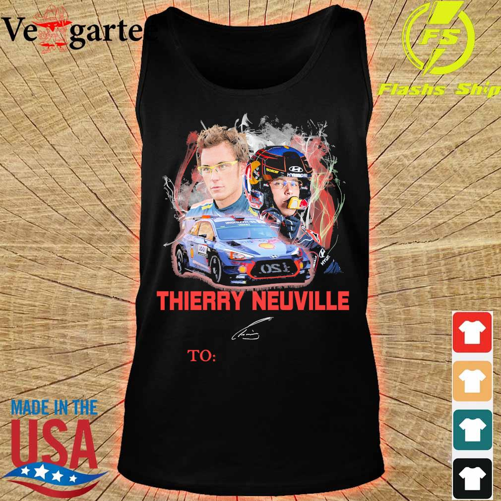 Thierry Neuville signature s tank top
