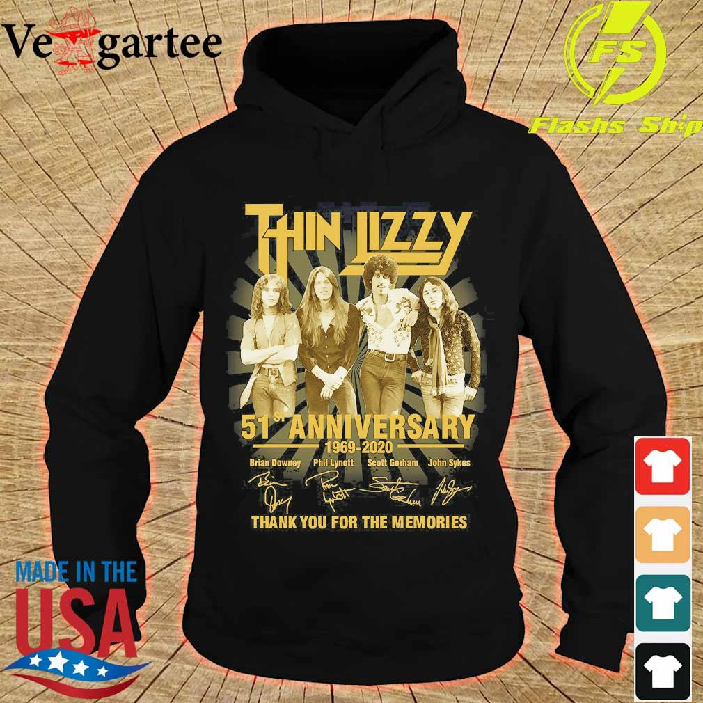 Thin Lizzy 51st anniversary 1969 2020 thank You for the memories signatures s hoodie