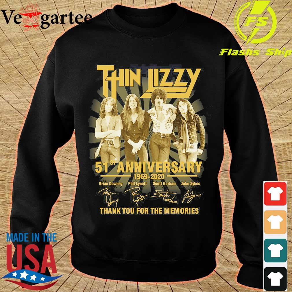 Thin Lizzy 51st anniversary 1969 2020 thank You for the memories signatures s sweater