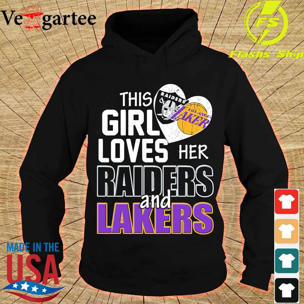 This girl loves her Raiders and Lakers s hoodie