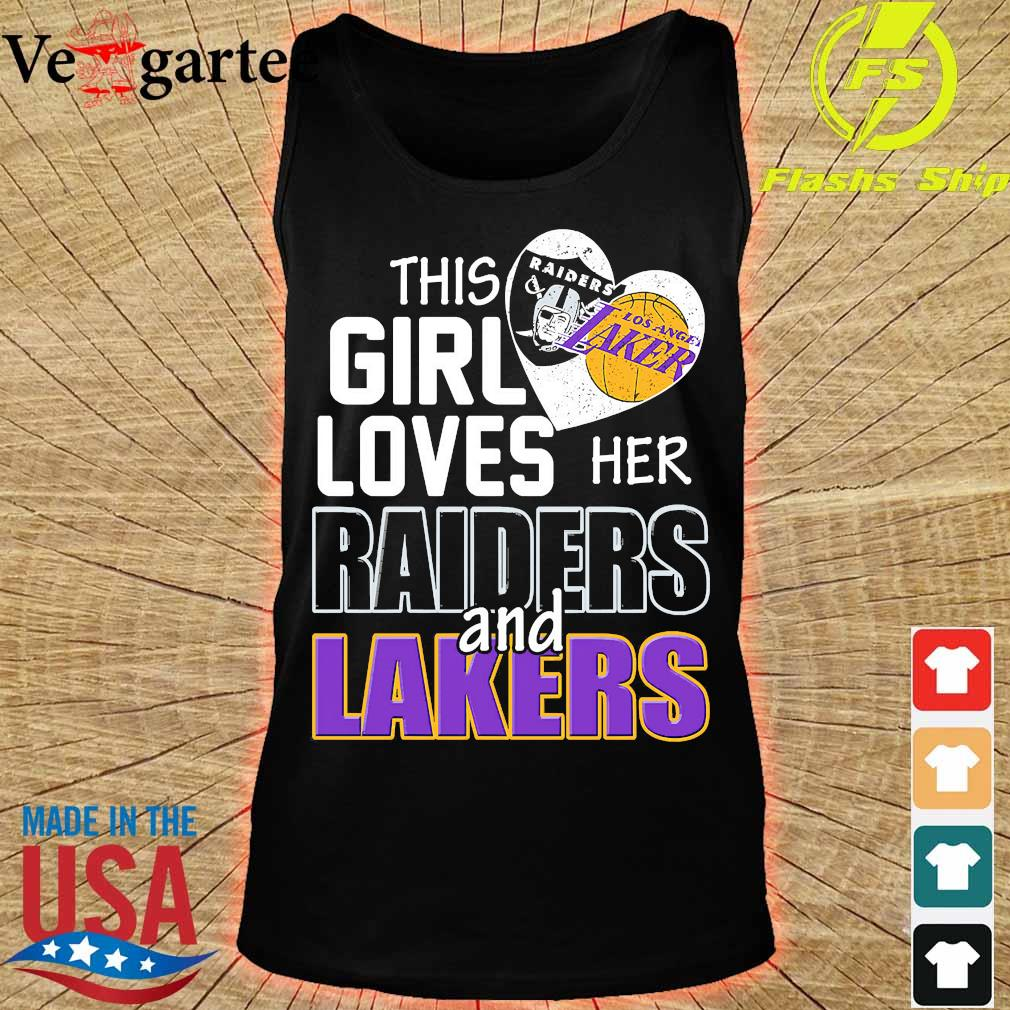 This girl loves her Raiders and Lakers s tank top
