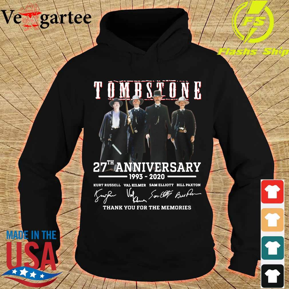 Tombstone 27th anniversary 1993 2020 thank You for the memories signatures s hoodie