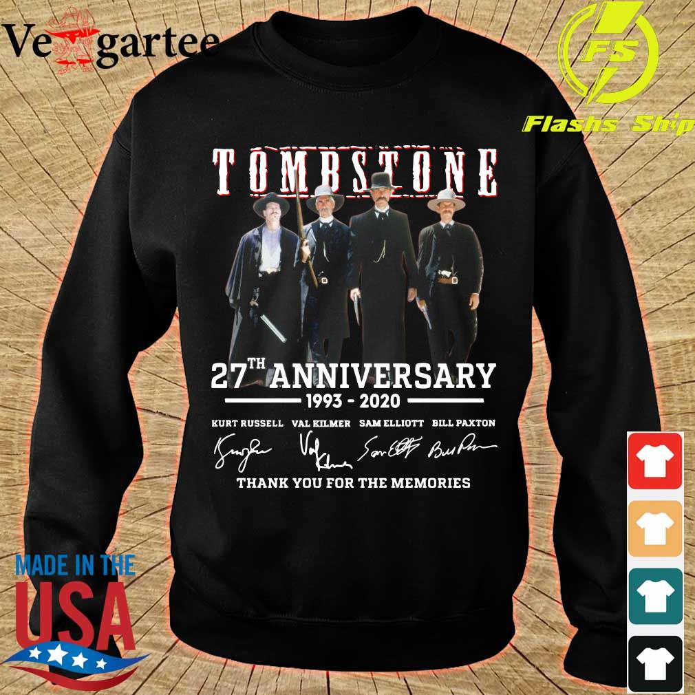 Tombstone 27th anniversary 1993 2020 thank You for the memories signatures s sweater