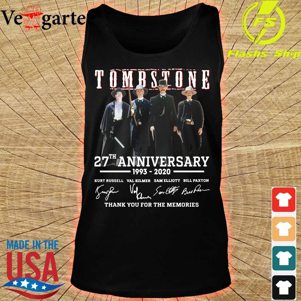 Tombstone 27th anniversary 1993 2020 thank You for the memories signatures s tank top