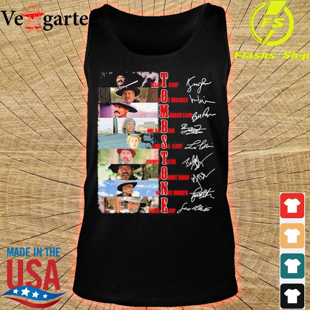 Tombstone film characters signatures s tank top