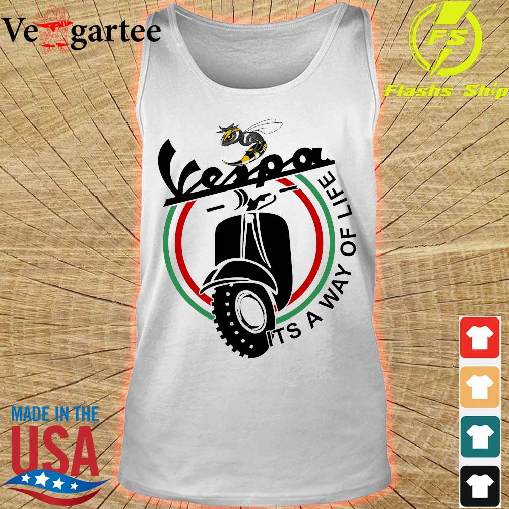 Vespa it's a way of life s tank top