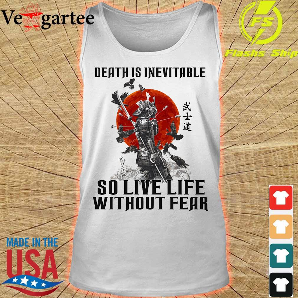 Vikings death is inevitable so live life without fear s tank top