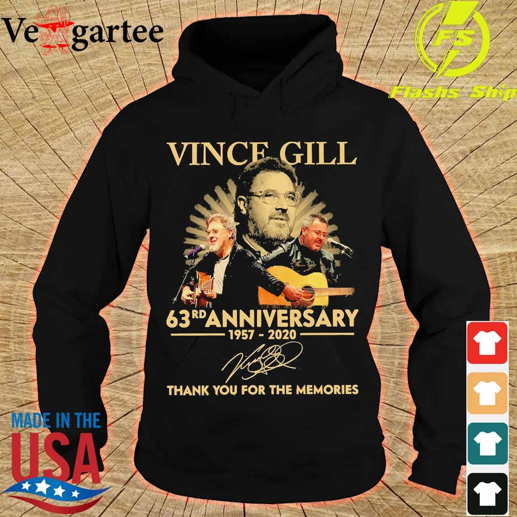 Vince Gill 63rd anniversary 1957 2020 thank You for the memories signature s hoodie