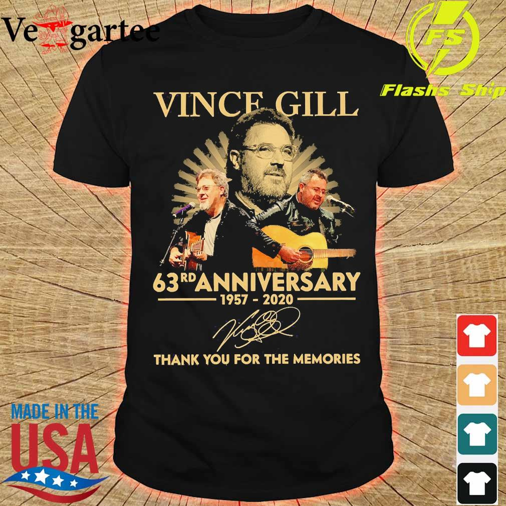 Vince Gill 63rd anniversary 1957 2020 thank You for the memories signature shirt