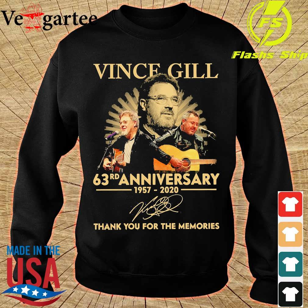 Vince Gill 63rd anniversary 1957 2020 thank You for the memories signature s sweater