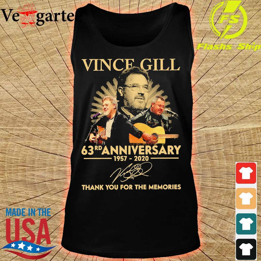 Vince Gill 63rd anniversary 1957 2020 thank You for the memories signature s tank top