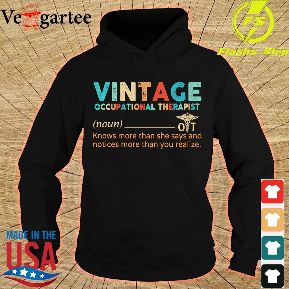 Vintage occupational therapist definition s hoodie