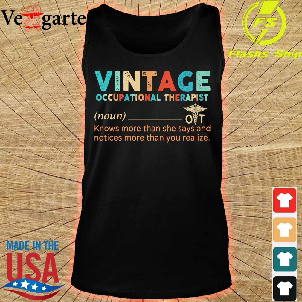 Vintage occupational therapist definition s tank top