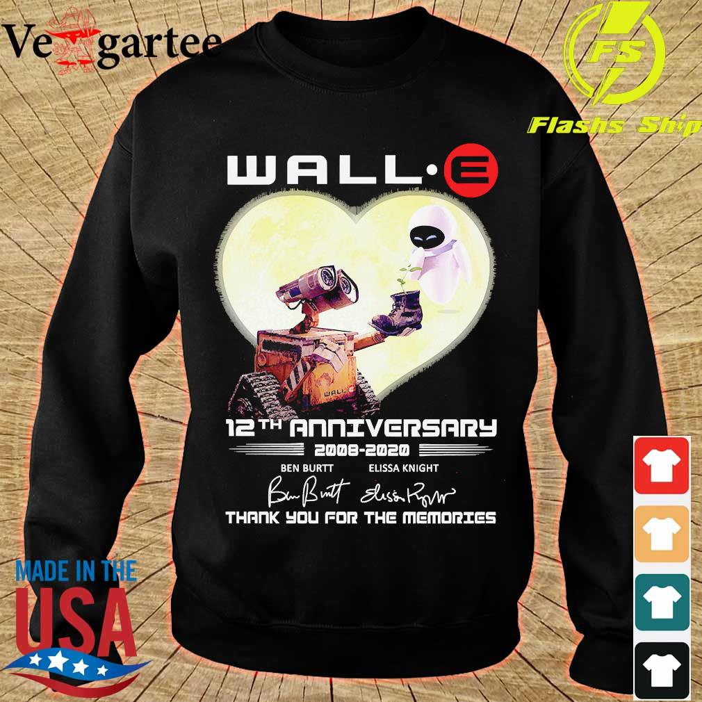 Wall.e 12th anniversary 2008 2020 thank You for the memories signatures s sweater
