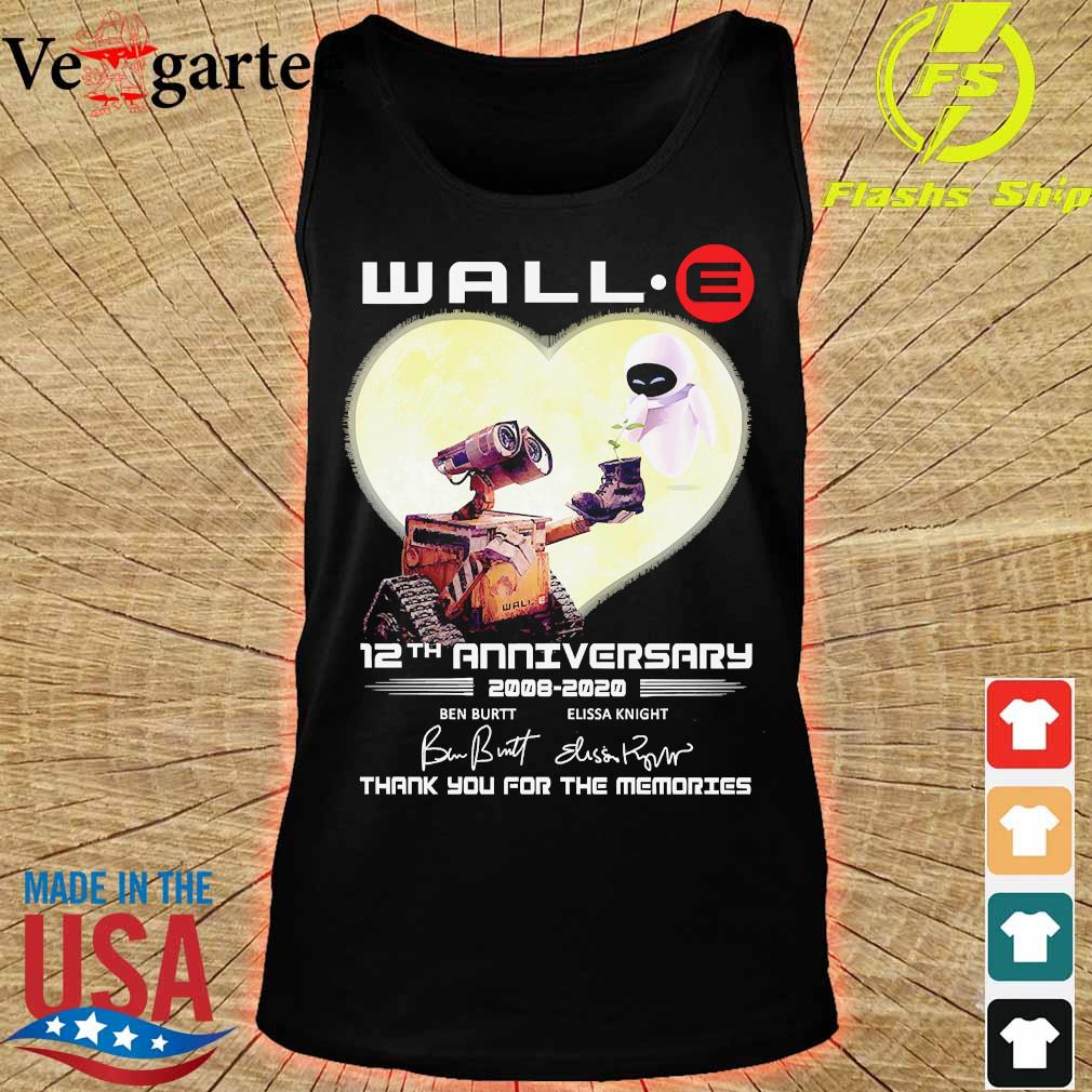 Wall.e 12th anniversary 2008 2020 thank You for the memories signatures s tank top
