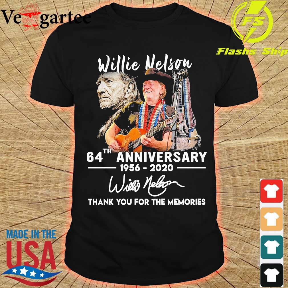 Willie Nelson 64th anniversary 1956 2020 thank You for the memories signature shirt
