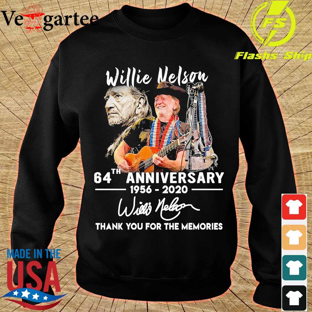 Willie Nelson 64th anniversary 1956 2020 thank You for the memories signature s sweater