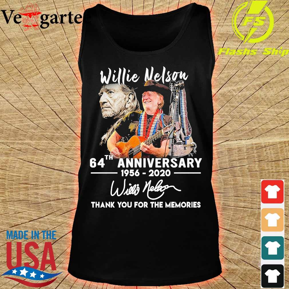 Willie Nelson 64th anniversary 1956 2020 thank You for the memories signature s tank top