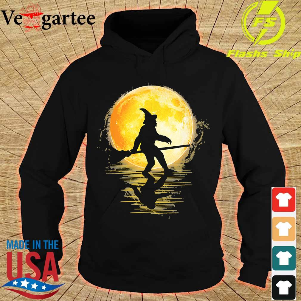 Witch Bigfoot Haloween moon s hoodie