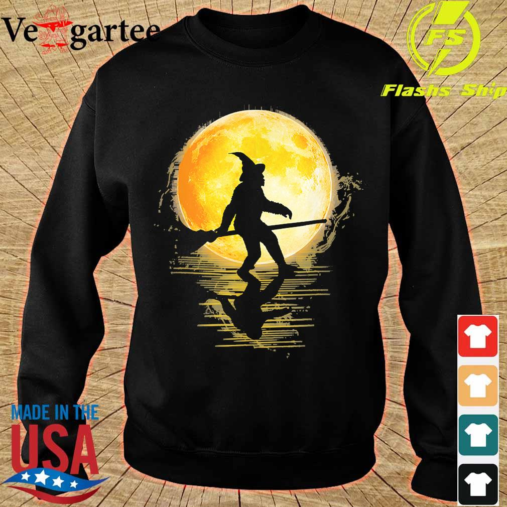 Witch Bigfoot Haloween moon s sweater