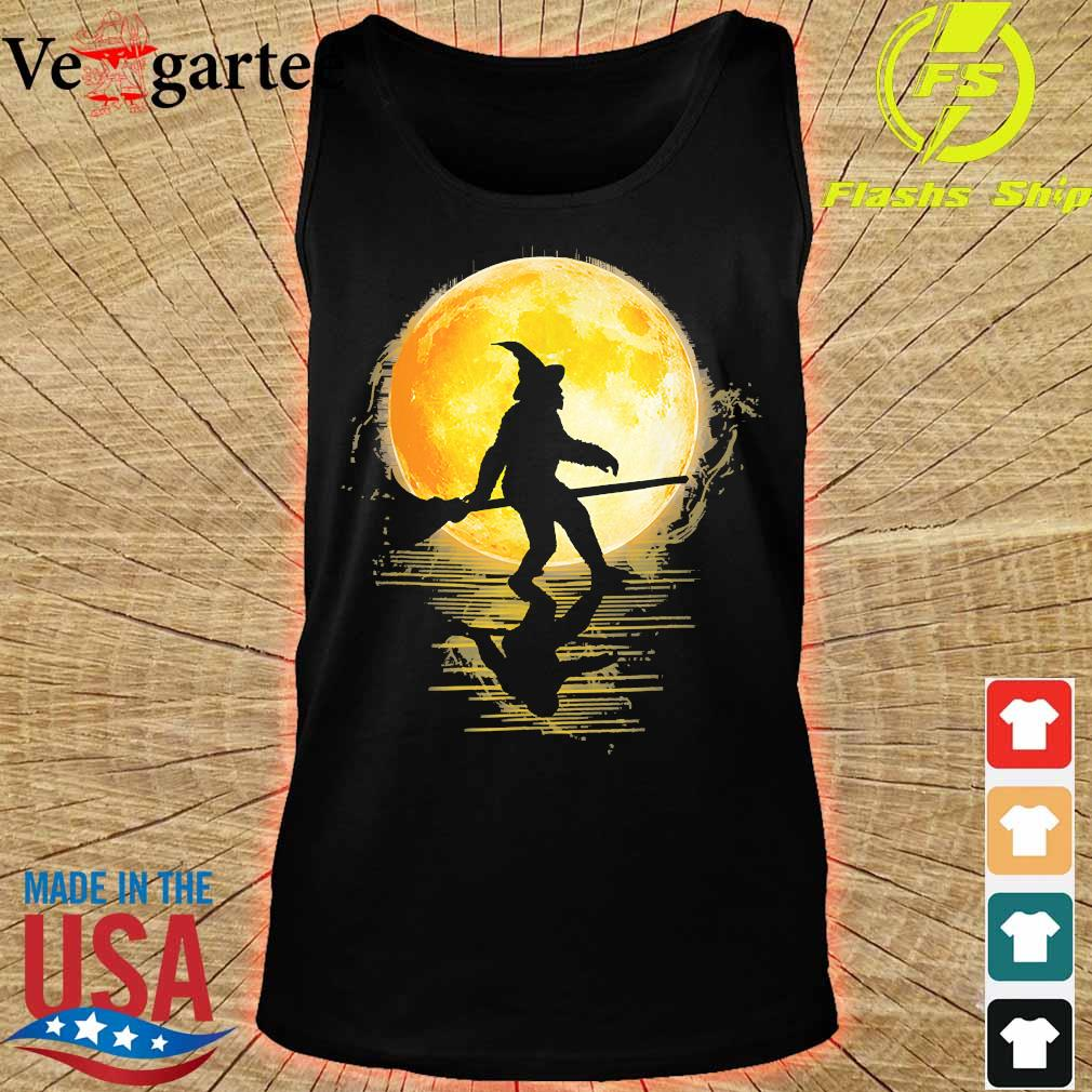 Witch Bigfoot Haloween moon s tank top