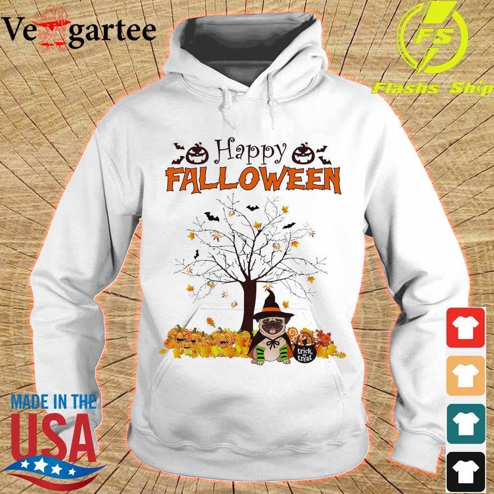 Witch Pug dog Trick or treat Happy halloween s hoodie