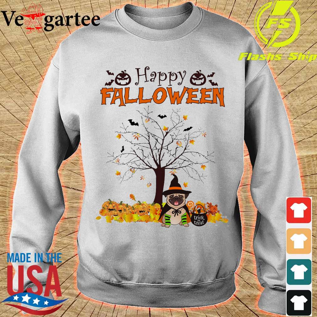Witch Pug dog Trick or treat Happy halloween s sweater