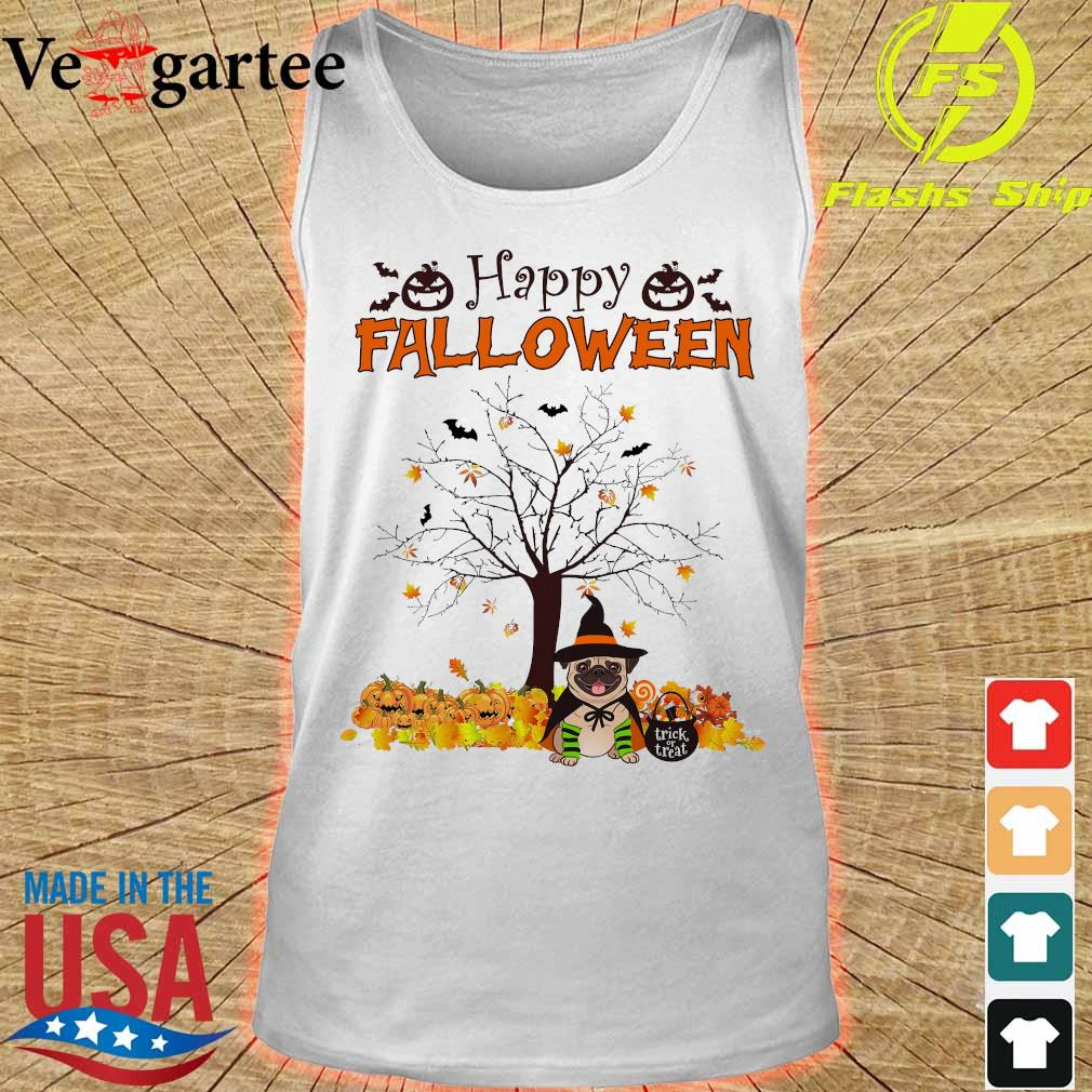 Witch Pug dog Trick or treat Happy halloween s tank top