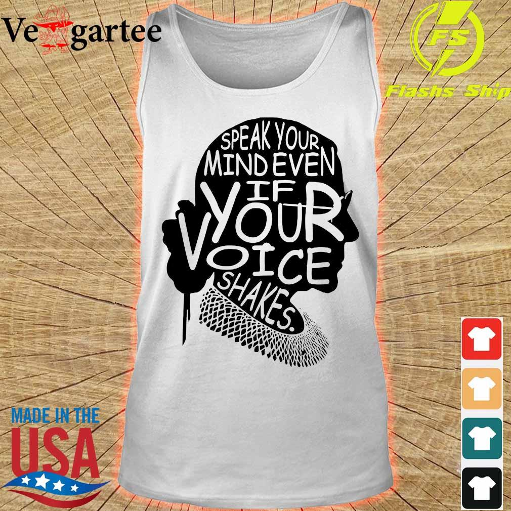 Woman speak Your mind even if your voice shakes s tank top